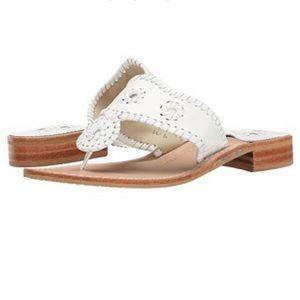 Jack Rogers White Palm Beach Flat Sandals